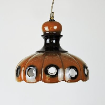 Vintage West German Ceramic Fat Lava Pendant Lamp, 1960s