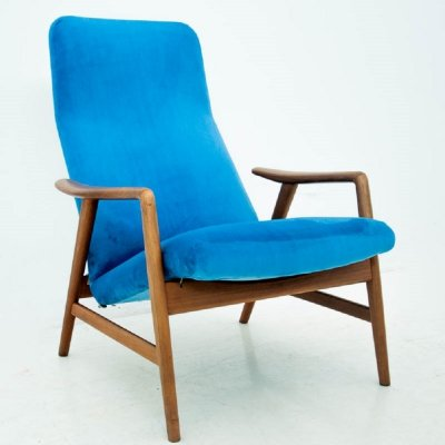 Blue armchair by Alf Svensson, Sweden 1970s
