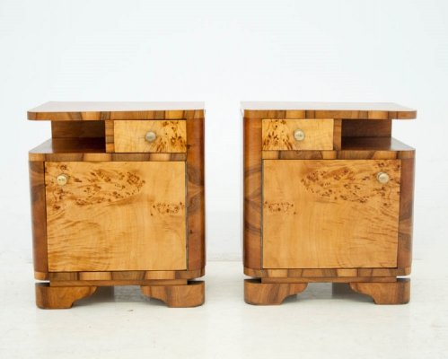 Pair of Art Deco bedside tables, 1950s
