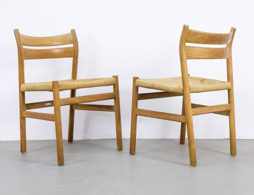 Oak BM1 Dining Chairs by Børge Mogensen for Fritz Hansen, 1983