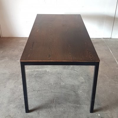 Minimalist dining table with wenge top by Martin Visser & Walter Antonis