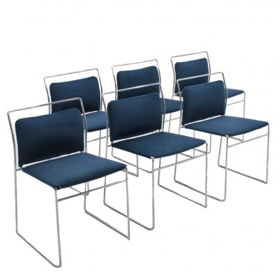 Set of 6 Tulu dining chairs by Kazuhide Takahama for Gavina, 1970s
