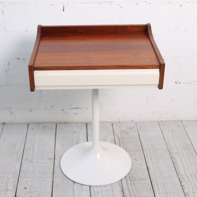 Nightstand with Rosewood box & Tulip Base, 1960s