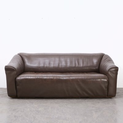 De Sede DS-47 Buffalo Leather 3-Seater Sofa, Switzerland 1970s