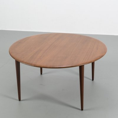Minerva coffee table in teak by Peter Hvidt & Orla Molgaard