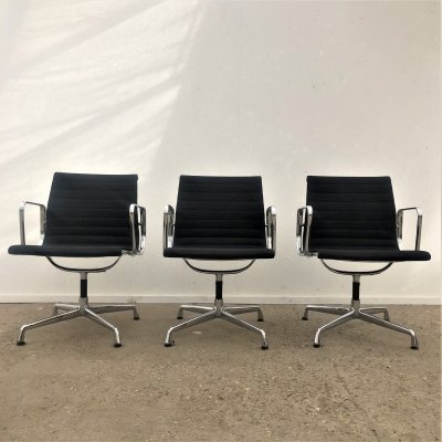 Vintage EA107 chairs by Charles & Ray Eames for Herman Miller, 1960/ 70s