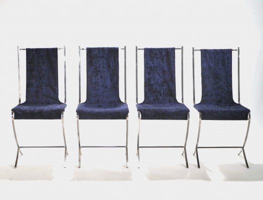 Set of six chairs by Pierre Cardin for Maison Jansen, 1970s