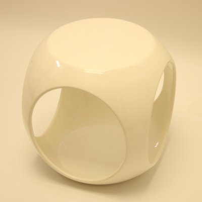Space age side table in white, 1960s
