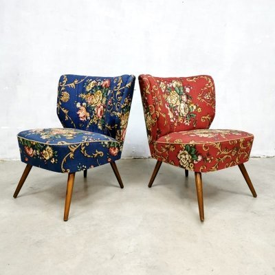 Set of 2 vintage cocktail expo chairs by Artifort, 1950s
