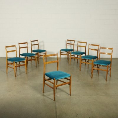 Set of 8 'Leggera' Chairs by Gio Ponti for Cassina