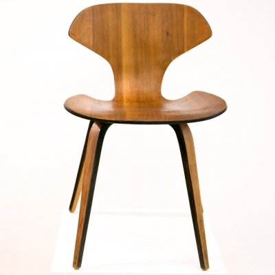 Walnut plywood chair by George Mulhauser for Plycraft of Lawrence, 1960's