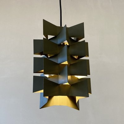 Green hanging lamp by Nordisk Solar Denmark, 1960s