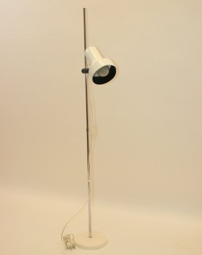 Vintage adjustable white floor lamp by AB Belid, Sweden 1960s