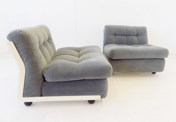 C&B Italia Amanta set of 2 lounge chairs by Mario Bellini, 1970s