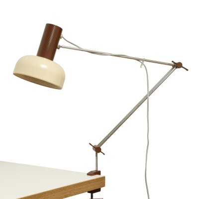 Beige & Brown Adjustable Napako table lamp by J. Hurka, Czechoslovakia 1960s