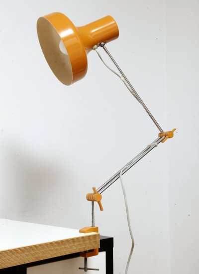 Orange Adjustable Napako table lamp by J. Hurka, Czechoslovakia 1960s