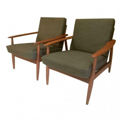 Pair of Danish vintage armchairs, 1950's