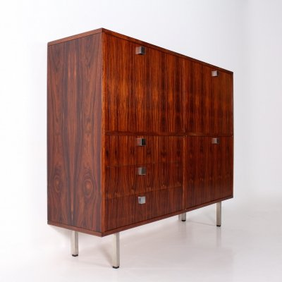 Rosewood bar/secretary sideboard by Alfred Hendrickx for Belform, 1960's