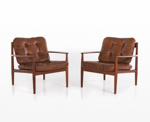 Pair of arm chairs by Grete Jalk for France & Son, 1960s