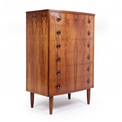 Mid Century Danish Walnut Chest of Drawers, 1960s