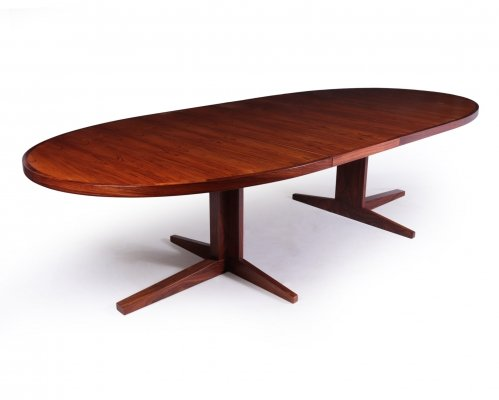 Mid Century Rosewood Dining Table by John Mortensen, 1960s