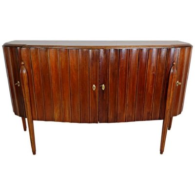 Italian Art Deco Chest in Walnut, 1930s