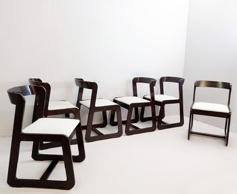 Set of 6 Dining Chairs by Willy Rizzo for Mario Sabot, 1970s