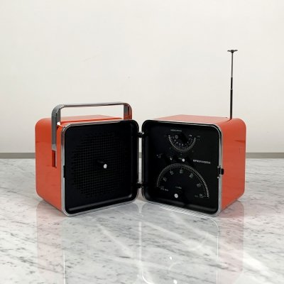 Red Portable Radio Model TS502 by Marco Zanuso & Richard Sapper for Brionvega