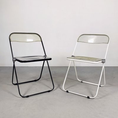 Plia folding chairs by Giancarlo Piretti for Castelli, 1960s