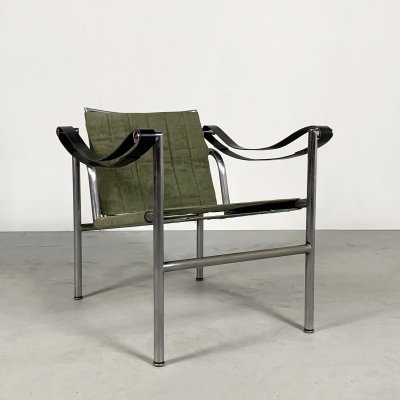 Kaki LC1 Armchair by Le Corbusier for Cassina, 1970s