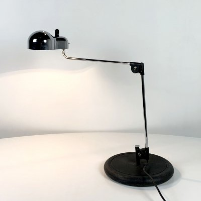 Chromed Topo Desk Lamp by Joe Colombo for Stilnovo, 1970s