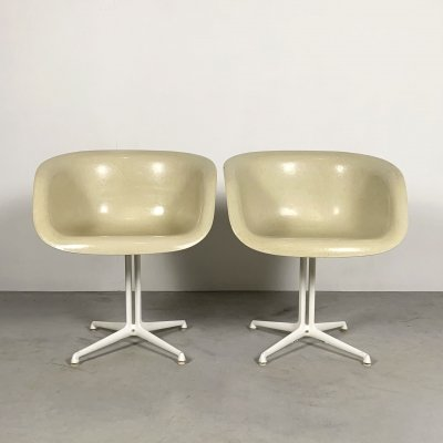 Set of 2 La Fonda Armchairs by Charles & Ray Eames for Herman Miller, 1970s