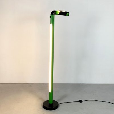 Green Neon Floor Lamp, 1980s