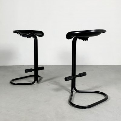 Pair of Tractor Stools by Rodney Kinsman for Bieffeplast, 1970s