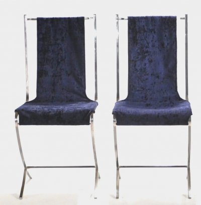 Set of 4 chairs by Pierre Cardin for Maison Jansen, 1970s