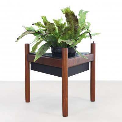 Vintage Danish teak planter by Spottrup