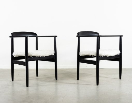 Pair of Swedish Modern armchairs by Alf Svensson, 1960s