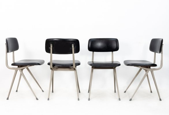 Set of 4 Result dining chairs by Friso Kramer for Ahrend de Cirkel, 1970s