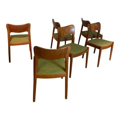 Set of 6 Danish dining room chairs by Niels Koefoed