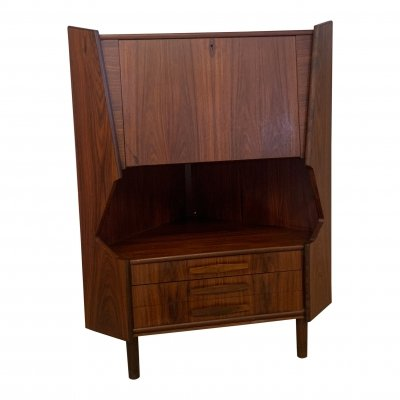 Rosewood corner cabinet by Omann Jun, 60's
