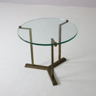 T37 side table in patinated brass by Peter Ghyczy, 1970s