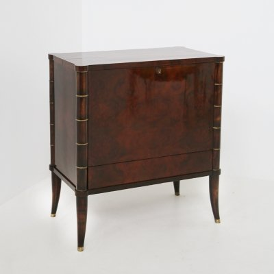 Italian Bar Cabinet by Tomaso Buzzi in Wood & Brass, Verified Archive 1940s
