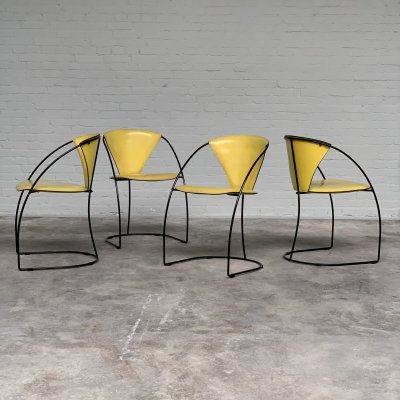 Set of four 'Linda' dining chairs by Arrben, Italy 1980s