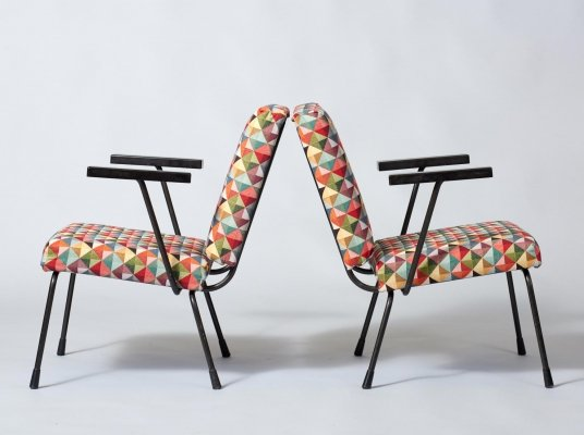 Pair of Model 415 chairs by Rietveld & Cordemeijer for Gispen