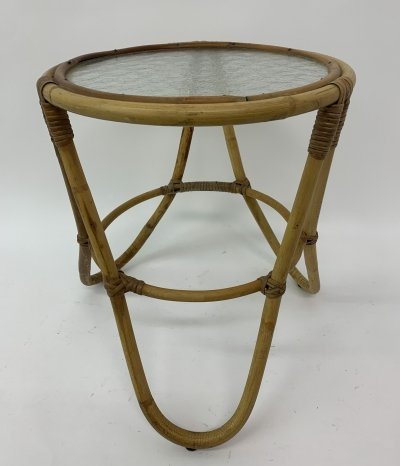 Rattan side table, 1960's