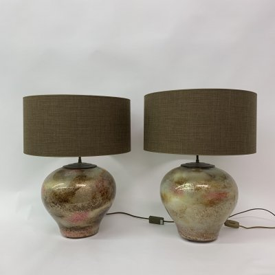 Set of 2 French table lamps, 1970's