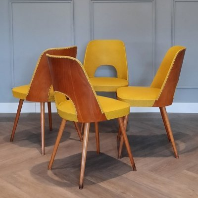 Set of 4 Dining Chairs No. 515 by Oswald Haerdtl for Thonet, 1950s