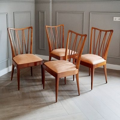 Set of 4 Dining Chairs by A.A. Patijn for Zijlstra Joure, 1950s