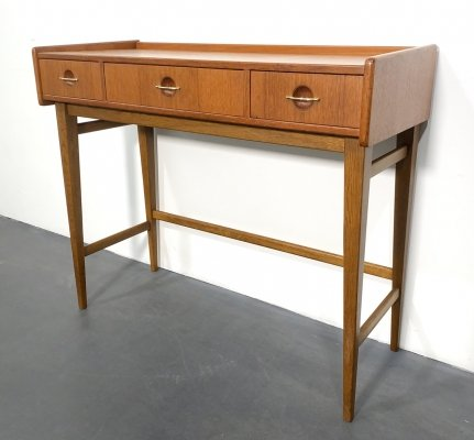 Mid Century Vanity Table in Teak Wood by Fröseke AB Nybrofabriken, Sweden 1960s