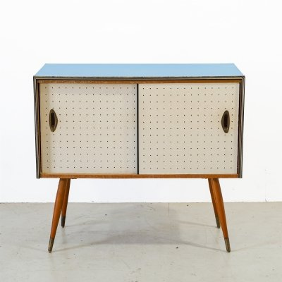 Cabinet with sliding doors in retro look, 1960s